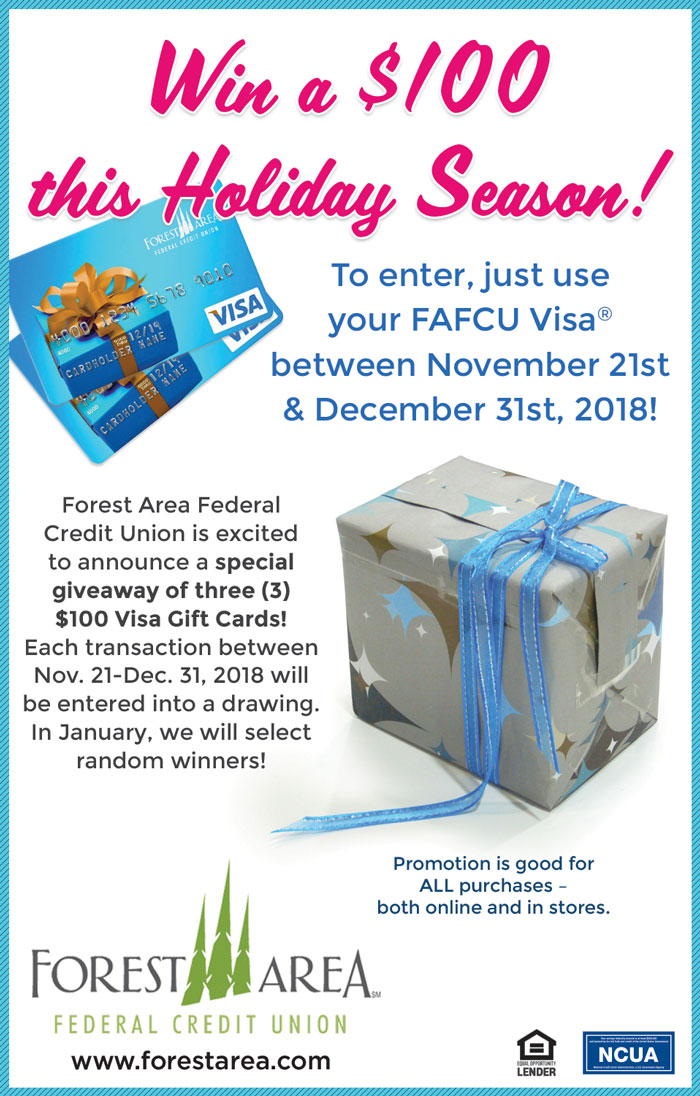 Win $100 with VISA