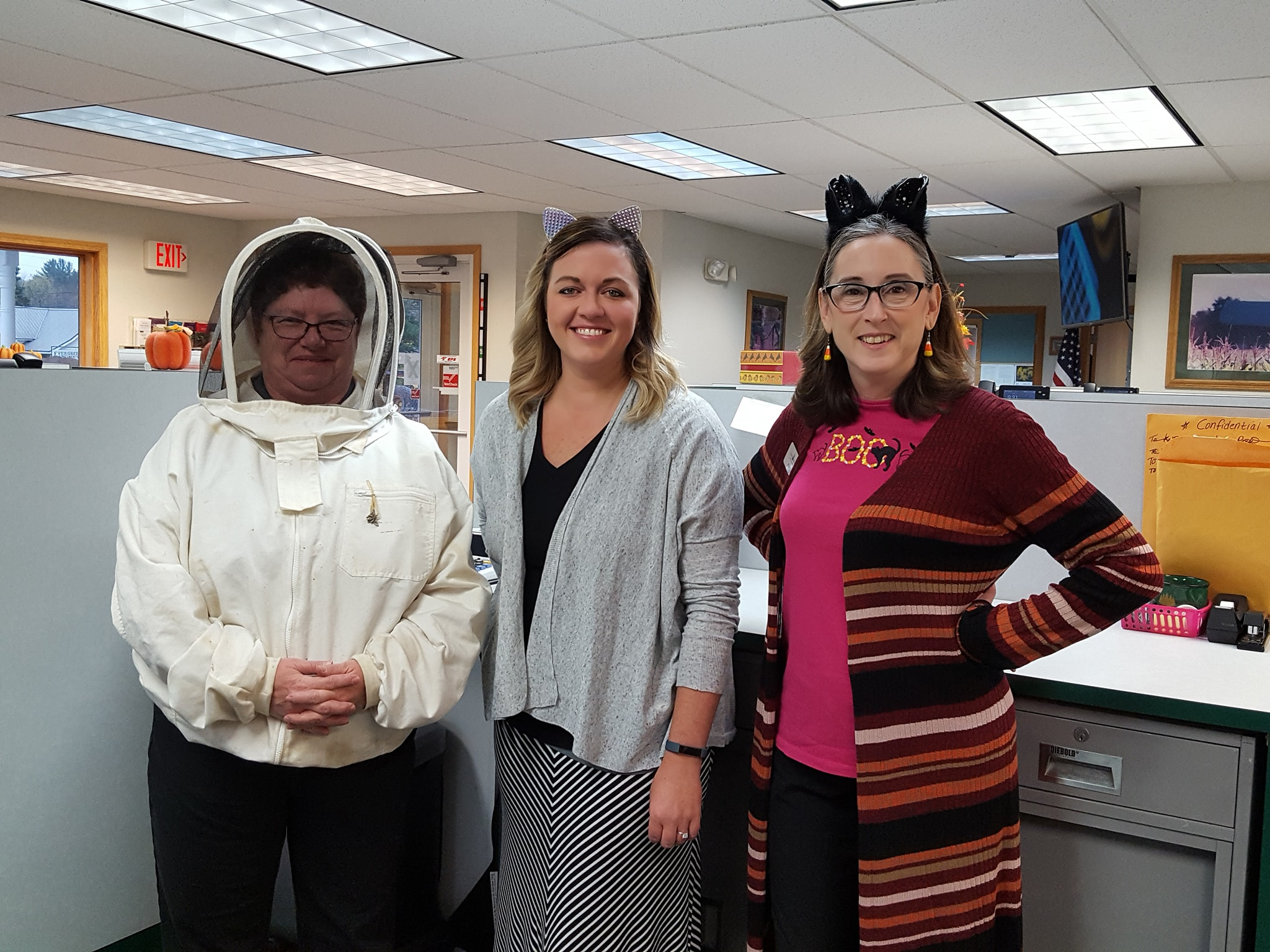 employees dressed up for halloween