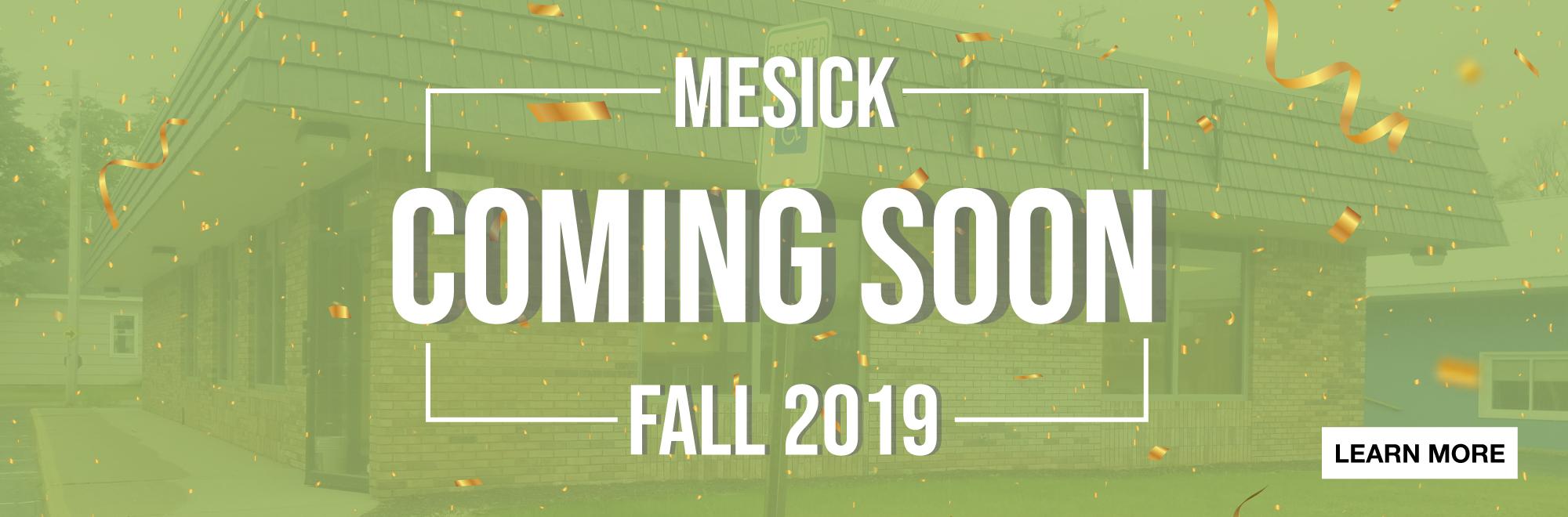 Mesick Branch Coming Fall 2019