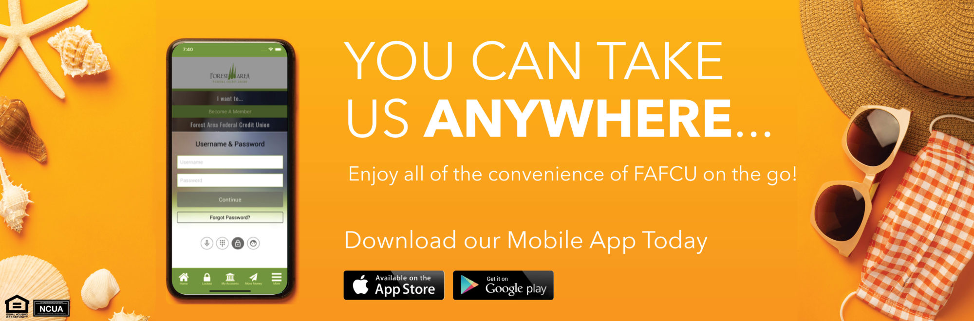 Enjoy all the conveniences of FAFCU on the go with online banking, mobile banking, and remote deposit caption and more