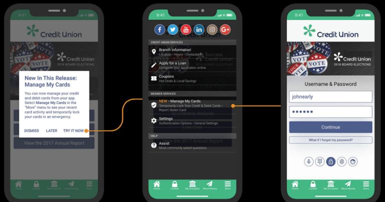 Screenshot of Card Controls App screen on mobile